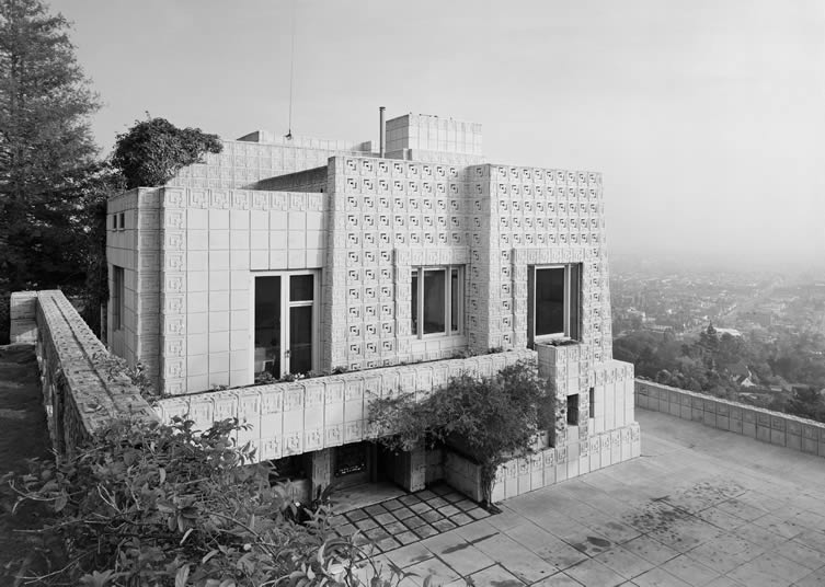 Ennis House, Frank Lloyd Wright, Los Angeles, CA, 1954