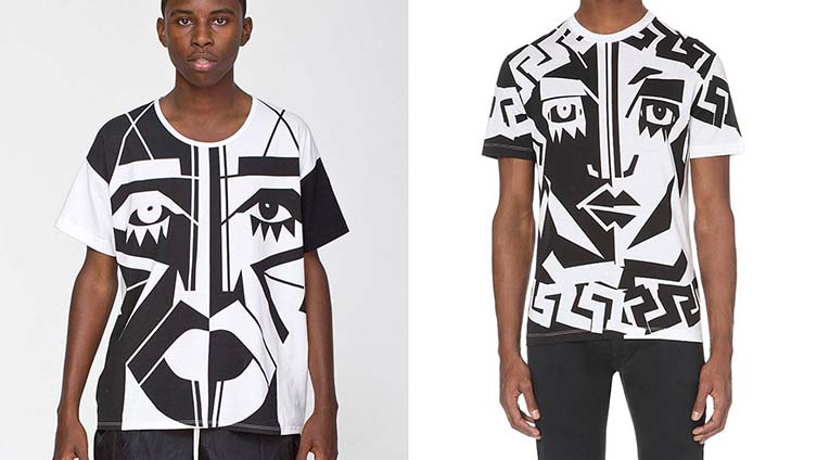 Kesh's original vs. the Versace rip-off