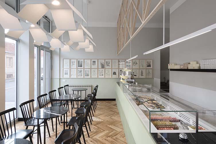 Fini Patisserie Belgrade, Dorćol Pâtisserie Design by Studio Petokraka