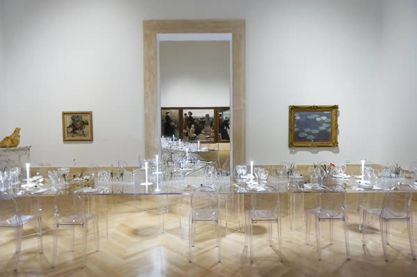Dinner at the Galleria Nazionale d'Arte Moderna