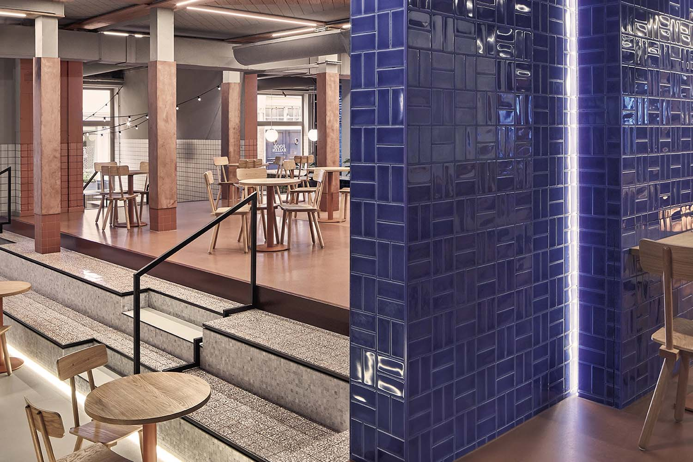 Foodhallen Den Haag The Hague, Haagsche Bluf Restaurant by Studio Modijefsky