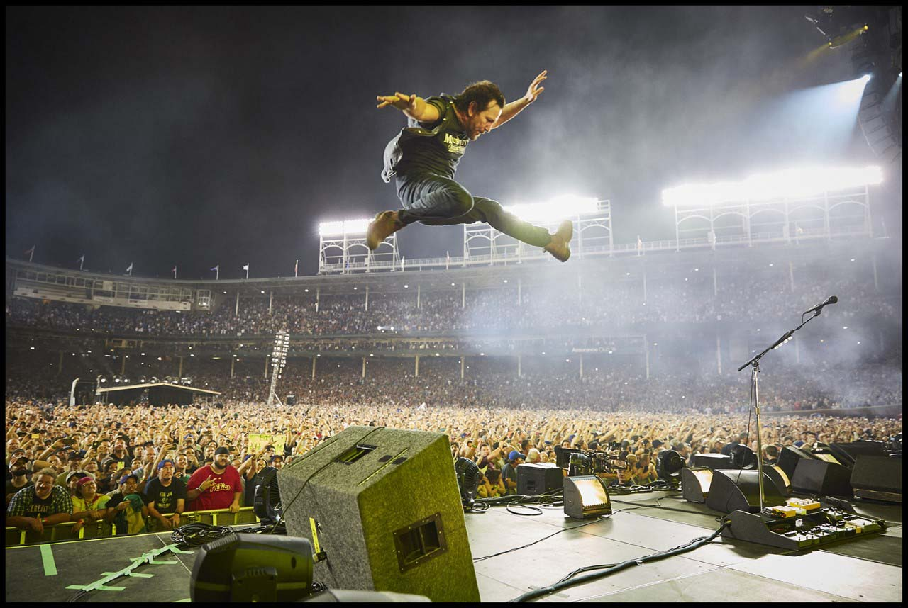 Danny Clinch, Eddie Vedder, Wrigley Field, Chicago