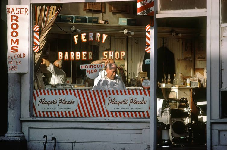 Ferry Barber Shop, 1959
