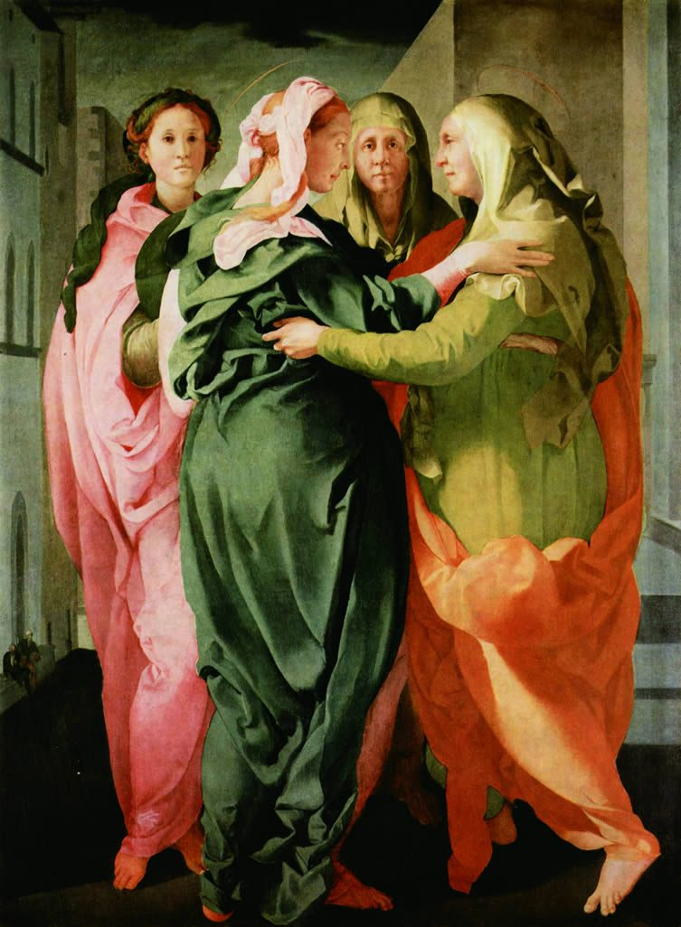 Visitation, Pontormo (Jacopo Carrucci; Pontorme, Empoli 1494–Florence1557)