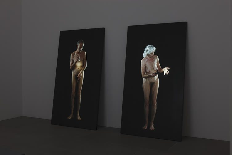 Man Searching for Immortality/Woman Searching for Eternity, Bill Viola