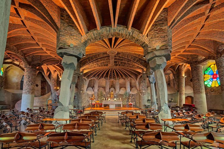 The Modernisme Architecture Movement: Gaudí's Crypt at the Church of Colònia Güell