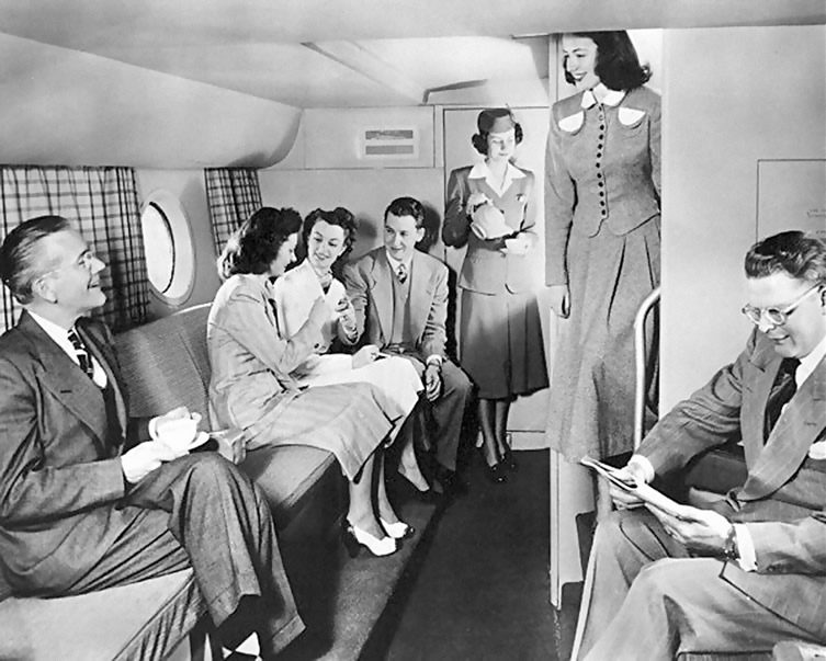 1950 Boeing 377 Stratocruiser Lower Lounge
