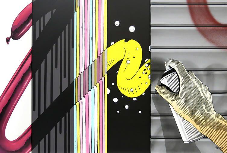 qu'est ce qui est essentiel dans ton graffiti? La spontanéité?