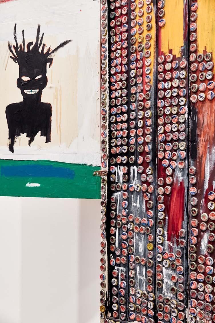 Installation view of Jean-Michel Basquiat's Self Portrait, 1985