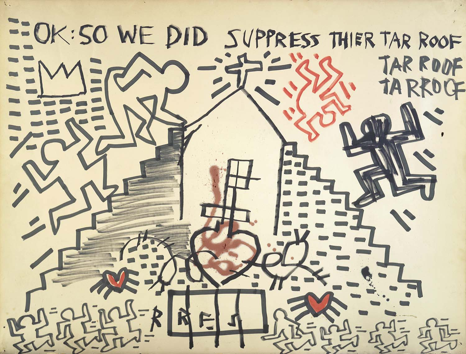 Keith Haring and Jean-Michel Basquiat, Untitled 1980