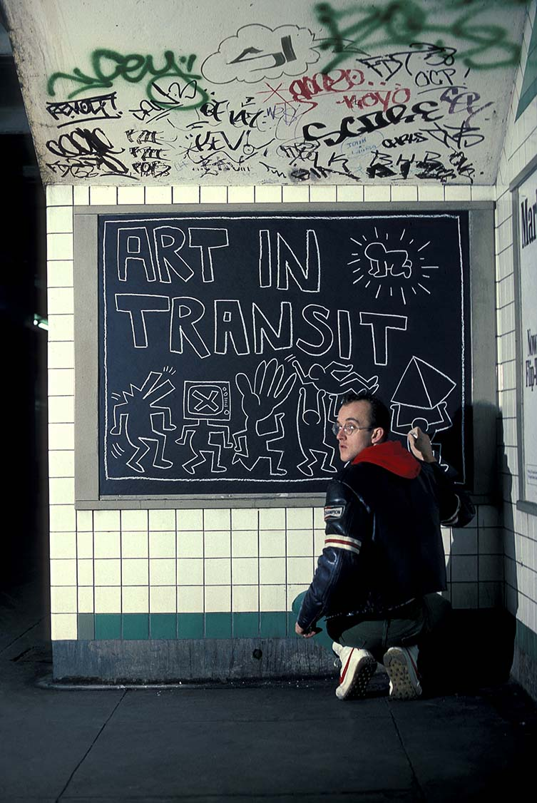 Keith Haring in New York City Subway, New York, 1984