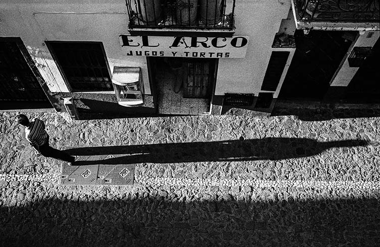 Man and Long Shadow from Above, Taxco, 2009