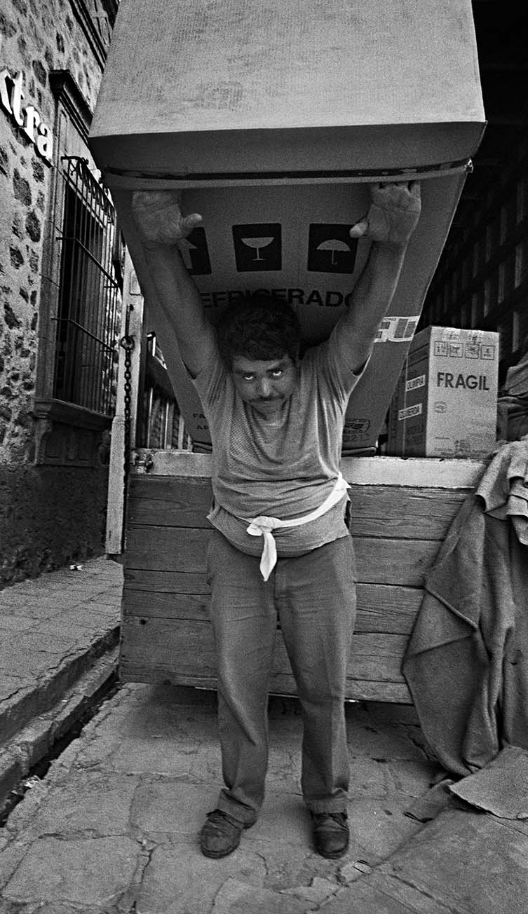 Man with Huge Carton on His Back, San Miguel de Allende, 1995