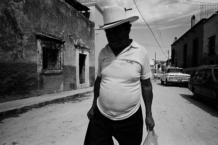 Man with Face in Shadow, San Miguel de Allende, 1997