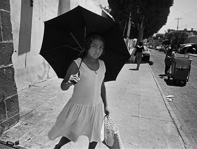 Young Woman Holding Umbrella, Querètaro, 1999