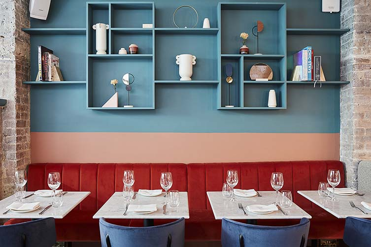 HAYA Notting Hill, London Restaurant by Victoria Paltina Designed by A-nrd Studio
