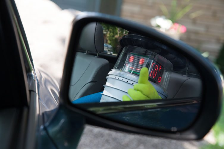 hitchBOT Decapitated
