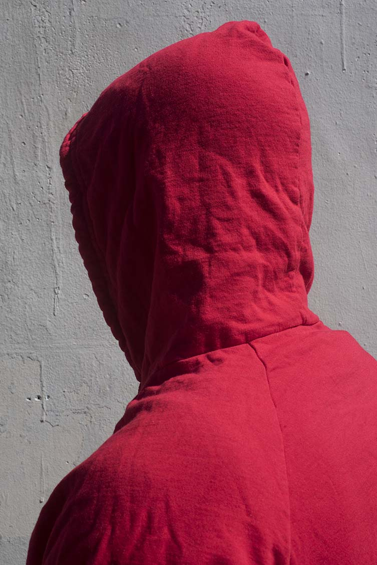 Untitled (Hood 13), 2018, archival pigment photograph by John Edmonds.