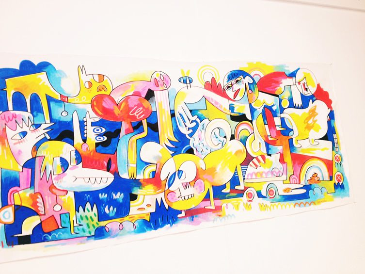 Hot Dogs and Hot Girls, Jon Burgerman
