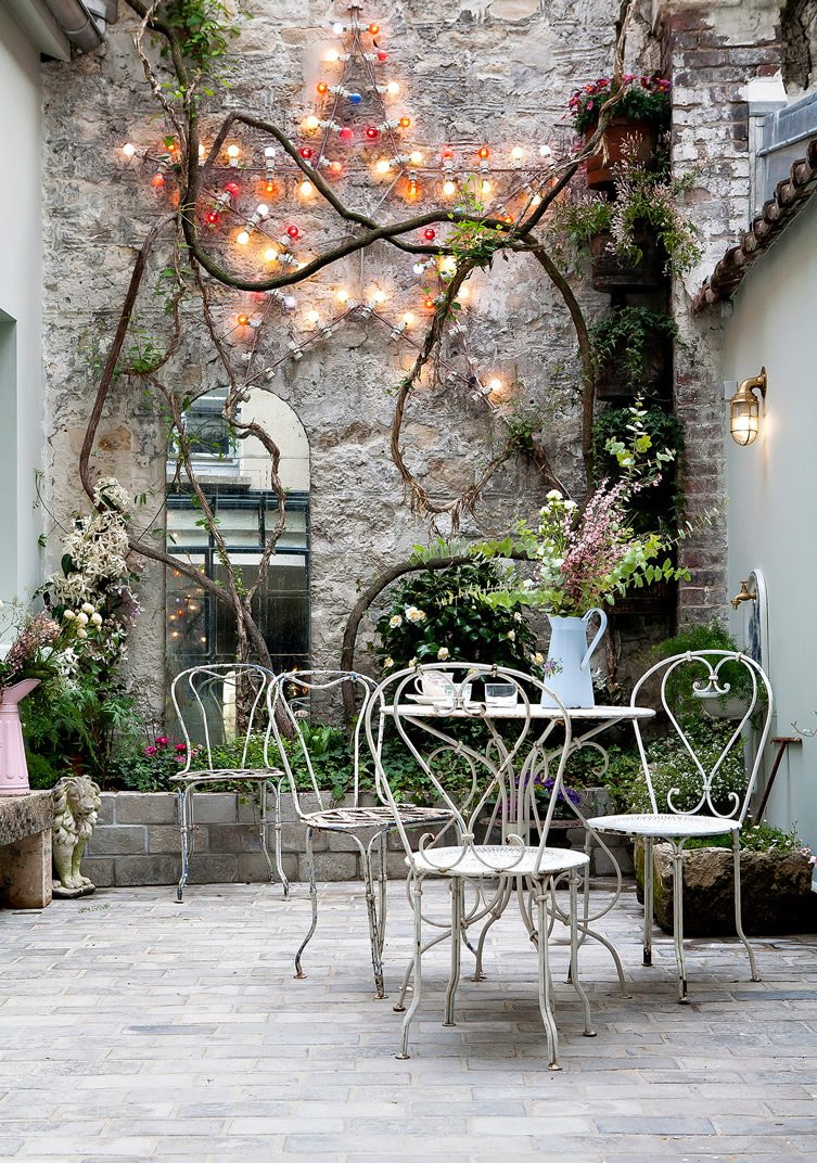 Hotel henriette paris for Terrasse decoration jardin