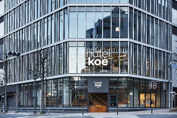 Hotel Koé Tokyo, Shibuya Fashion Retailer, Hotel, and Restaurant Flagship Store
