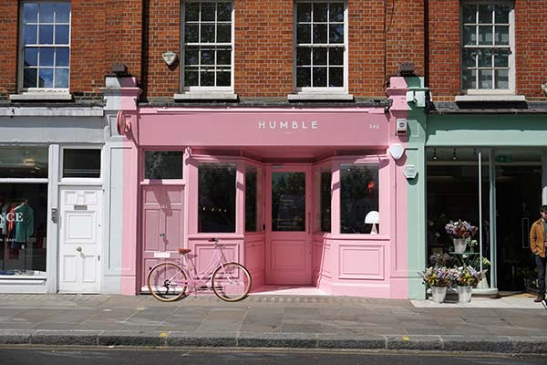 Humble Pizza London, King's Road Chelsea Restaurant Designed by Child Studio