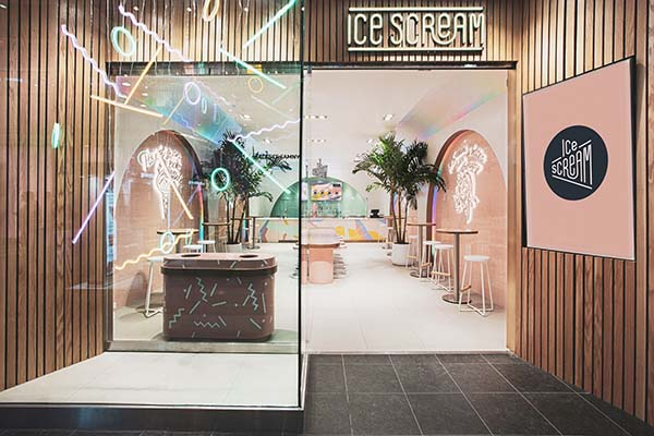 Ice Scream The Bronx, New York City Nitrogen Ice Cream Shop Designed by Asthetíque