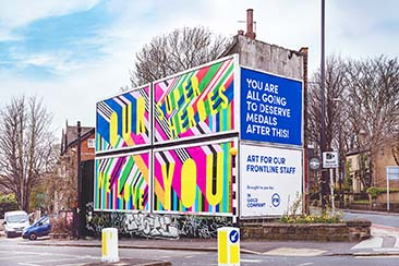 Morag Myerscough Billboard Takeover
