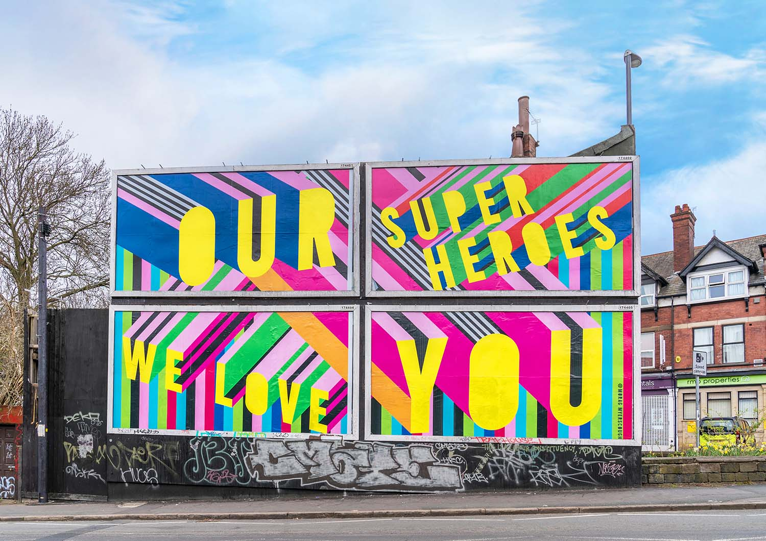 Morag Myerscough Billboard Takeover in Collaboration with In Good Company