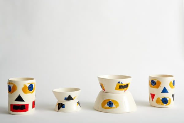 Clifton Wright ceramics, in collaboration with Nikki Tibbles Wild at Heart