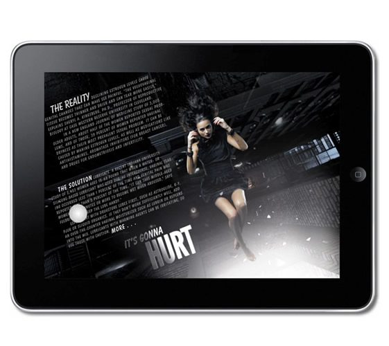 VIVmag, Interactive iPad Spread Demo