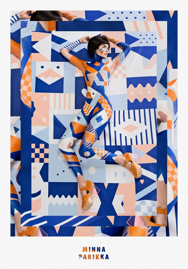 Janine Rewell x Minna Parikka — Body Painting and Scandinavian Spring