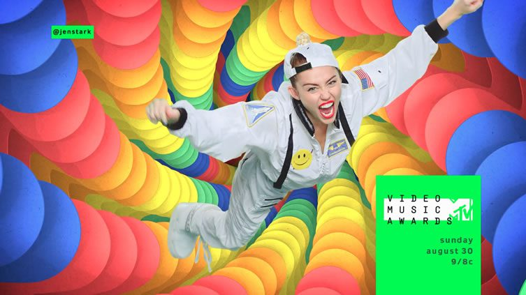Jen Stark Miley Cyrus
