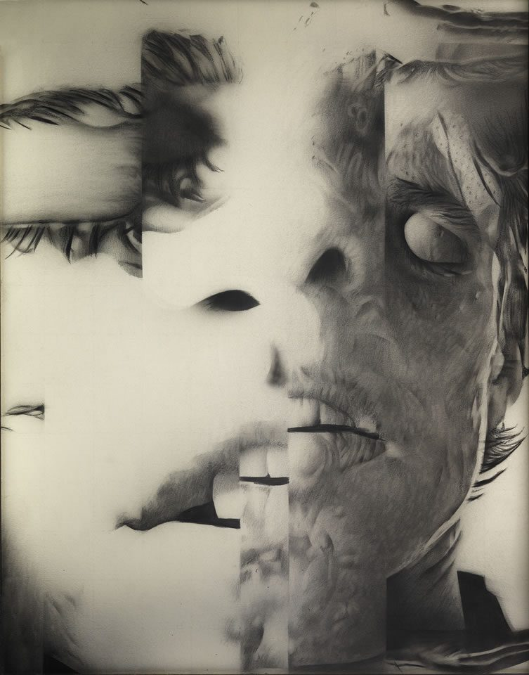 Untitled (Distorted Faces series), 1985