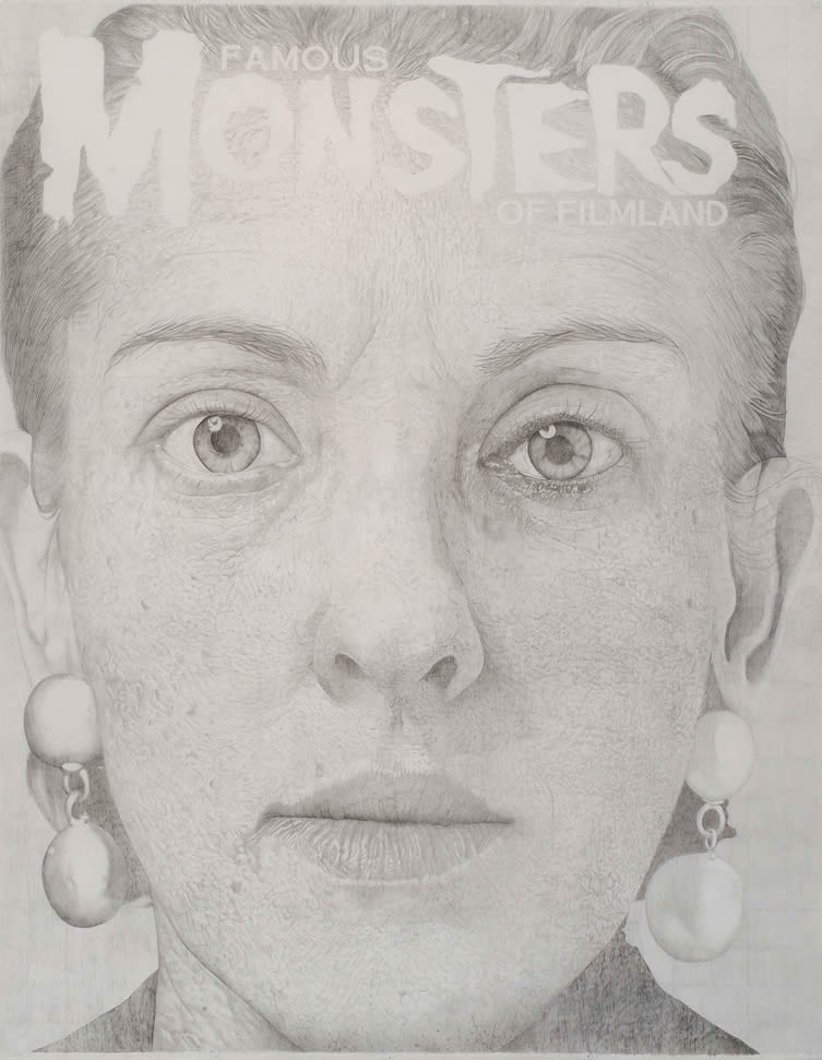 Untitled (Large Face with Famous Monster Logo), 2003