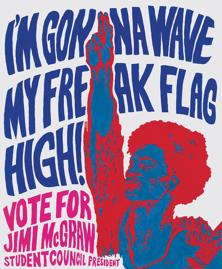 Jim Shaw, Protest Poster