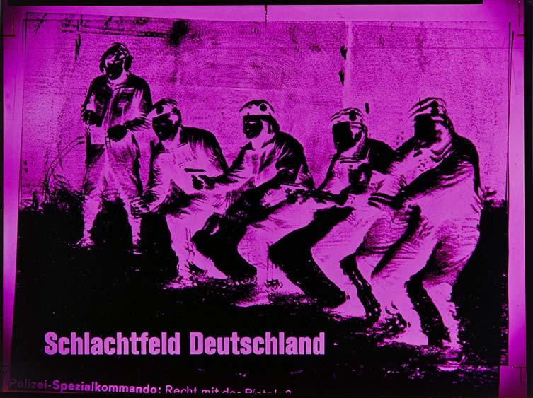 Katharina Sieverding: XI/78, SCHLACHTFELD DEUTSCHLAND, 1978