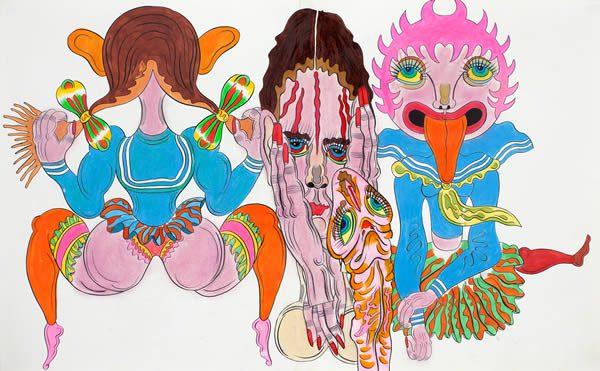 Keiichi Tanaami, A Perfect Peach-Pink Day at Galerie Gebr. Lehmann Dresden