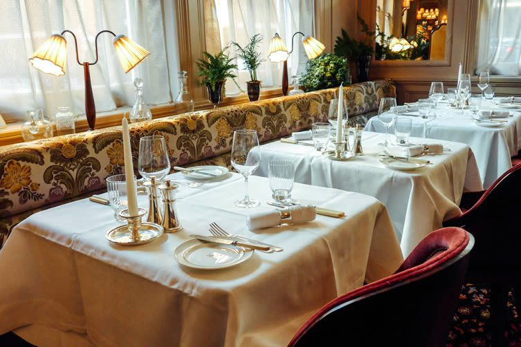 Fish, salads, meat, and more await hungry diners, although it's easy forget you're eating and become transfixed by the restaurant's classic interiors with Grade II-listed details; including coving, silverware, flowers, and an almost cinematic atmosphere.