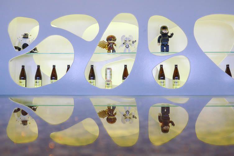 Art prints and vinyl toys by the likes of Medicom Japan; Bearbrick; Ron English; and Phunk Studio