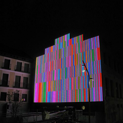 Led Action Façade, Medialab-Prado, Madrid