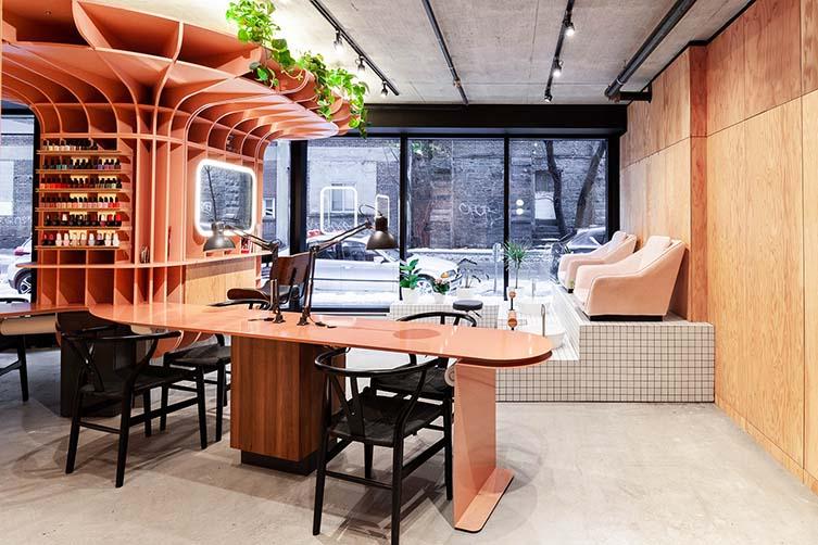 Le Hideout Montreal, Griffintown Beauty Salon Designed by Ménard Dworkind architecture & design