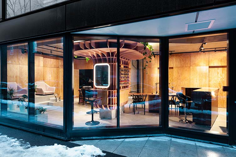Le Hideout Montreal, Griffintown Beauty Salon Designed by Ménard Dworkind architecture & design