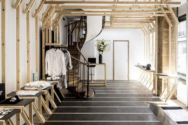 les bains boutique la boutique by les bains paris. Black Bedroom Furniture Sets. Home Design Ideas