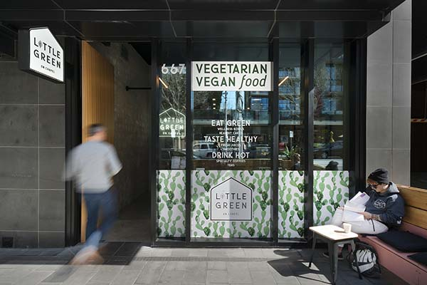 Little Green on Chapel Melbourne Café by FRETARD Design, Chapel Street, South Yarra