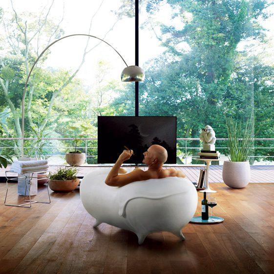 Rumahkita co lixils foam bathtub by kenya hara for Bathroom design kenya