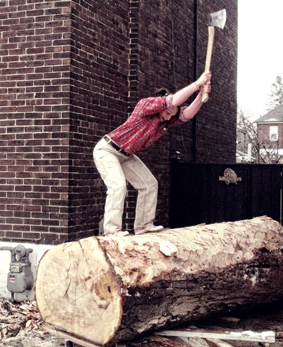 Log Chop Bench, The Practice of Everyday Design