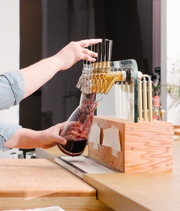 Lois Alphabet City New York Draft Wine Bar, Design by Michael J. Groth