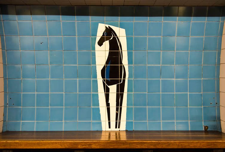 Blackhorse Road tilework by Hans Unger