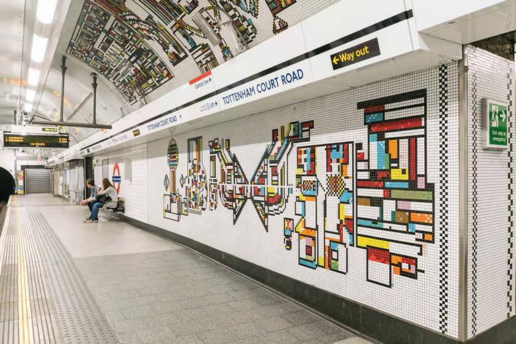 Tottenham Court Road mural by Eduardo Paolozzi